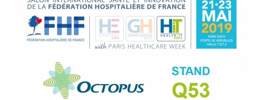 Découvrez le logiciel ITSM Octopus à la Paris Healthcare Week 2019